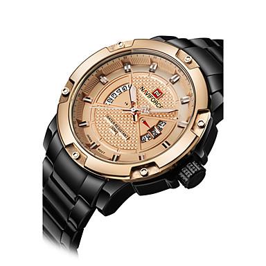 304a91cf9cc NAVIFORCE Homens Relógio Esportivo   Relógio de Pulso Calendário   Legal Aço  Inoxidável Banda Luxo   Casual   Fashion Preta de 5830746 2019 por €23.99