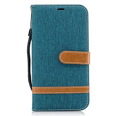 Недорогие Чехол Samsung-Кейс для Назначение SSamsung Galaxy J5 (2016) / J3 Prime / J3 (2016) Кошелек / Бумажник для карт / со стендом Чехол Полосы / волосы Твердый текстильный