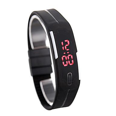 Недорогие Смарт-электроника-led watch date красный цифровой прямоугольник набор резинка мужской мужской наручные часы силикон вел дети часы спорт
