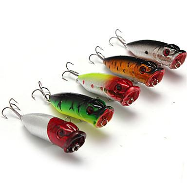 5 pcs Δόλωμα Momeală Dură Poper Pachete momeală Plutire Scufundare Bass Păstrăv Ştiucă Pescuit mare Aruncare Momeală Momeală pescuit Plastic Dur Plastic