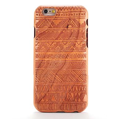 رخيصةأون أغطية أيفون-غطاء من أجل iPhone 6s / ايفون 6 / Apple ايفون 6s / iPhone 6 مطرز / نموذج غطاء خلفي خشب / نموذج هندسي قاسي خشبي