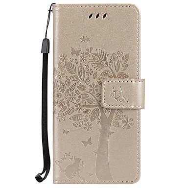 Недорогие Чехлы и кейсы для Galaxy S4 Mini-Кейс для Назначение SSamsung Galaxy S8 Plus / S8 / S7 edge Кошелек / Бумажник для карт / со стендом Чехол дерево Твердый Кожа PU