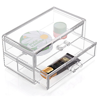 رخيصةأون خزانة المكياج و المجوهرات-منسوجات / بلاستيك بيضوي البلاستيك / للسفر الصفحة الرئيسية منظمة, 1PC صناديق التخزين / أدراج / منظمو المضمد