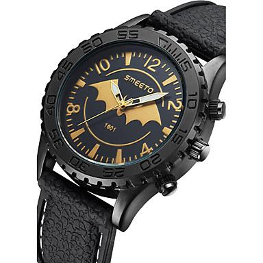 Недорогие Часы на металлическом ремешке-Муж. Модные часы Кварцевый На каждый день Аналоговый Черный / силиконовый