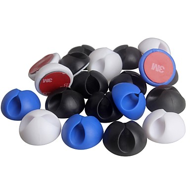 olcso Cellphone & Device Holders-ziqiao 10db multifunkcionális ragasztó autós töltő vonal csattal bilincs fejhallgató / usb kábel autó klip belső kiegészítők (2,8 * 1.5cm)