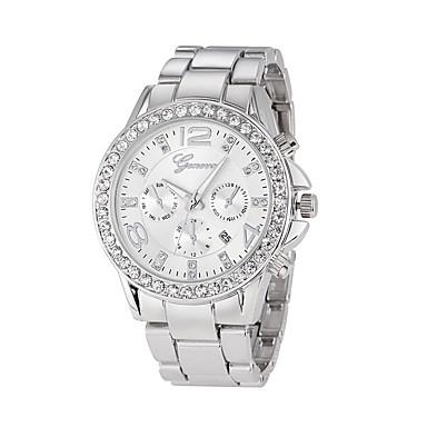 Недорогие Часы на металлическом ремешке-Муж. Модные часы Кварцевый На каждый день Аналоговый Розовое золото Золотой Серебряный