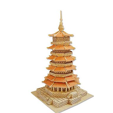 بانوراما الألغاز قطع تركيب3D اللبنات DIY اللعب ألعاب خشب ألعاب البناء و التركيب