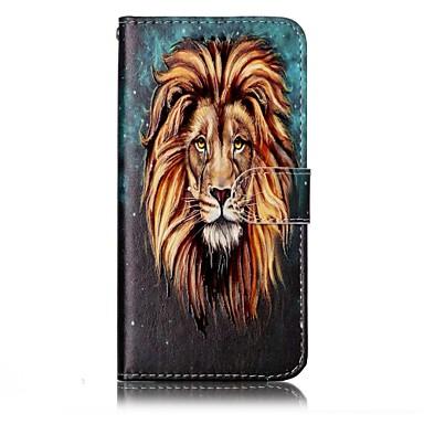 رخيصةأون LG أغطية / كفرات-غطاء من أجل LG LG G6 محفظة / حامل البطاقات / مع حامل غطاء كامل للجسم حيوان قاسي جلد PU