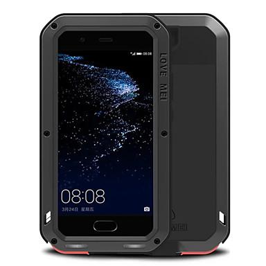 olcso Huawei P tokok/borítók-Case Kompatibilitás Huawei P10 Plus / P10 / Huawei Ütésálló / Vízálló Héjtok Egyszínű Kemény Fém