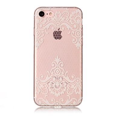 voordelige iPhone 5 hoesjes-hoesje Voor Apple iPhone X / iPhone 8 Plus / iPhone 8 IMD / Transparant / Patroon Achterkant Cartoon / Lace Printing / Bloem Zacht TPU