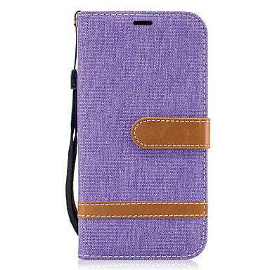 voordelige Galaxy A-serie hoesjes / covers-hoesje Voor Samsung Galaxy A5(2017) / A3(2017) Portemonnee / Kaarthouder / met standaard Volledig hoesje Lijnen / golven Hard tekstiili voor A3 (2017) / A5 (2017) / A5(2016)