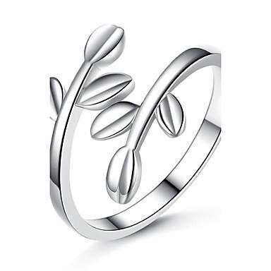 8efd02d17338ff Femme Bague Argent Platiné Forme de Feuille Original Mariage Soirée Occasion  spéciale Bijoux de fantaisie de 5775573 2019 à €1.99