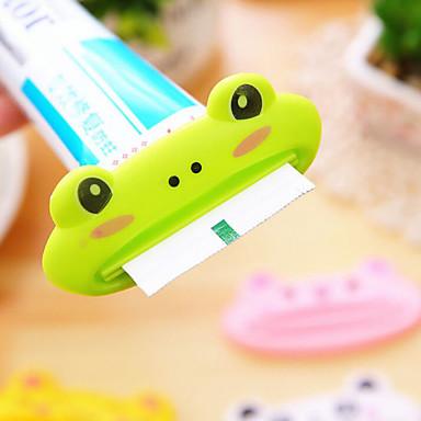 1 قطع الحيوان سهلة معجون الأسنان موزع البلاستيك معجون الأسنان أنبوب عصارة مفيدة معجون الأسنان المتداول للحمام المنزل