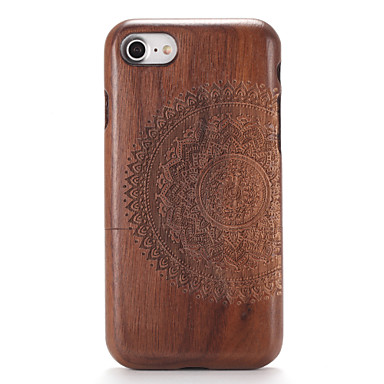 voordelige iPhone-hoesjes-hoesje Voor Apple iPhone 7 Plus / iPhone 7 / iPhone 6s Plus Reliëfopdruk / Patroon Achterkant Houtnerf / Mandala Hard Puinen