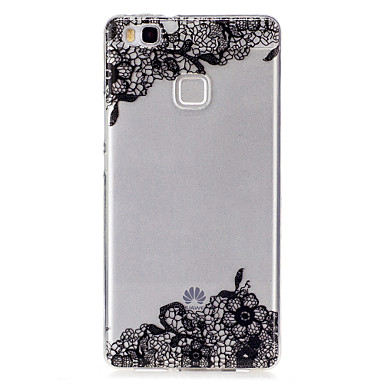 voordelige Huawei Y-serie hoesjes / covers-hoesje Voor Huawei P9 Lite / Huawei / Huawei P8 Lite Huawei P9 Lite / Huawei P8 Lite / Huawei Y6 II / Honor Holly 3 IMD / Transparant / Patroon Achterkant Lace Printing Zacht TPU