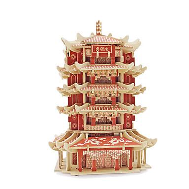 رخيصةأون 3D الألغاز-قطع تركيب3D تركيب مجموعات البناء بناء مشهور خشبي استايل صيني للجنسين ألعاب هدية