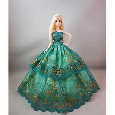 74f9273843865 حفلة   سهرة فساتين إلى Barbiedoll دانتيل   ستان فستان إلى لفتاة دمية لعبة  5839740 2019 – €4.79