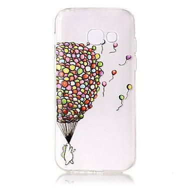voordelige Galaxy A-serie hoesjes / covers-hoesje Voor Samsung Galaxy A3 (2017) / A5 (2017) Transparant / Reliëfopdruk / Patroon Achterkant Balloon Zacht TPU