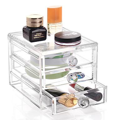 رخيصةأون خزانة المكياج و المجوهرات-بلاستيك بيضوي للسفر الصفحة الرئيسية منظمة, 1PC حاويات / صناديق التخزين / أدراج