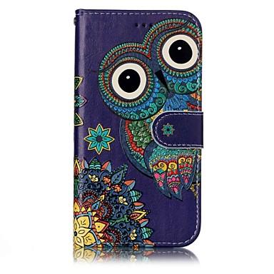 Недорогие Чехлы и кейсы для Galaxy А-Кейс для Назначение SSamsung Galaxy A3 (2017) / A5 (2017) Кошелек / Бумажник для карт / со стендом Чехол Сова Твердый Кожа PU