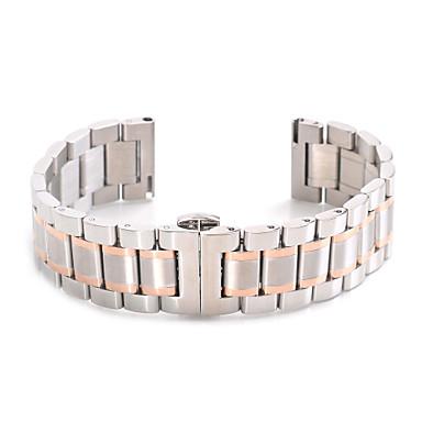 voordelige Smartwatch-accessoires-Horlogeband voor Gear S2 Classic Samsung Galaxy Sportband Roestvrij staal Polsband