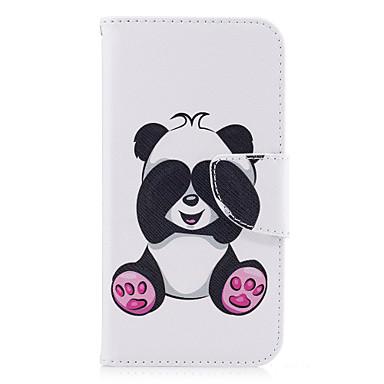 voordelige Galaxy A-serie hoesjes / covers-hoesje Voor Samsung Galaxy A3 (2017) / A5 (2017) / A5(2016) Portemonnee / Kaarthouder / met standaard Volledig hoesje Panda Hard PU-nahka