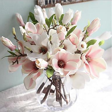 1e0809c8303 Umělé květiny 1 Větev evropský styl Magnólie Květina na stůl 5931271 2019 –  €5.24