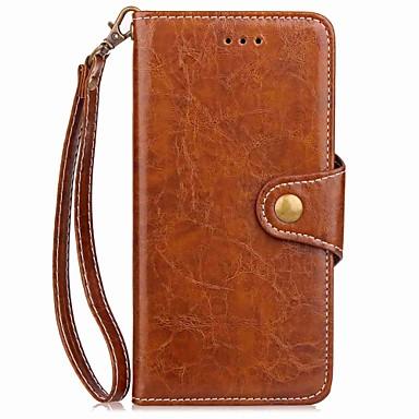 baratos Capinhas para iPhone-Capinha Para Apple / iPhone X iPhone X / iPhone 8 Plus / iPhone 8 Carteira / Porta-Cartão / Com Suporte Capa Proteção Completa Sólido Rígida PU Leather