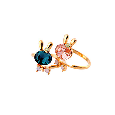 رخيصةأون خواتم-نسائي خاتم أحمر أزرق سبيكة مخصص موضة euramerican في زفاف مناسب للحفلات مجوهرات