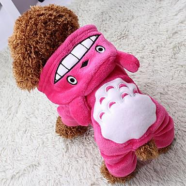 povoljno Odjeća za psa i dodaci-Mačka Pas Kaputi Hoodies Jumpsuits Zima Odjeća za psa Braon Rose Sive boje Kostim Flis Životinja Ugrijati Halloween XS S M L XL XXL