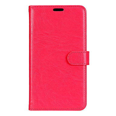 cheap Galaxy A5 Cases / Covers-Case For Samsung Galaxy A3(2017) / A5(2017) / A7(2017) Wallet / Card Holder / with Stand Full Body Cases Solid Colored Hard PU Leather
