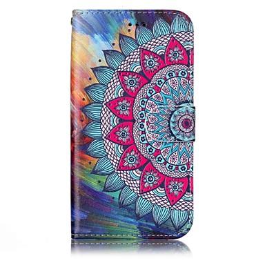 voordelige Galaxy A-serie hoesjes / covers-hoesje Voor Samsung Galaxy A3 (2017) / A5 (2017) Portemonnee / Kaarthouder / met standaard Volledig hoesje Mandala Hard PU-nahka