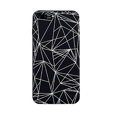 voordelige iPhone 5 hoesjes-hoesje Voor Apple iPhone X / iPhone 8 Plus / iPhone 8 Patroon Achterkant Tegel / Lijnen / golven / Geometrisch patroon Zacht TPU