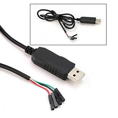 abordables Accessoires DIY-Pl2303hx usb to ttl to uart rs232 com convertisseur de module de câble