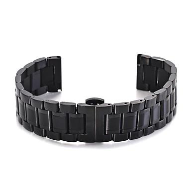 voordelige Smartwatch-accessoires-Horlogeband voor Gear S3 Frontier / Gear S3 Classic / Gear S3 Classic LTE Samsung Galaxy Sportband Roestvrij staal Polsband