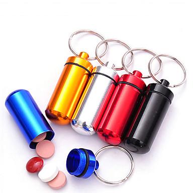 povoljno Putne torbe-Putna kutijica za lijekove Vodootporno Prijenosno Ultra Light(UL) Mini Veličina za Putna kutija Hitna pomoć Aluminijska Alloy-Pink Crvena