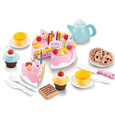 ieftine Cadouri-Mâncare Copii Tort Tăietoare De Prăjitură & Prăjiturele  Plastice Pentru copii Fete Jucarii Cadou 54 pcs