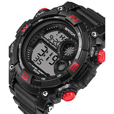 04cd90f20c8 Homens Relógio Esportivo Relógio inteligente Relógio de Pulso Digital 30 m  Calendário LED Monitores de Atividades Esportivas Silicone Banda Digital  Casual ...
