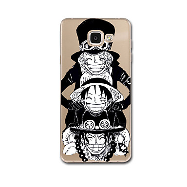 voordelige Galaxy A-serie hoesjes / covers-hoesje Voor Samsung Galaxy A5(2017) A3(2017) Transparant Patroon Achterkantje Cartoon Punk Zacht TPU voor A3 (2017) A5 (2017) A7 (2017)