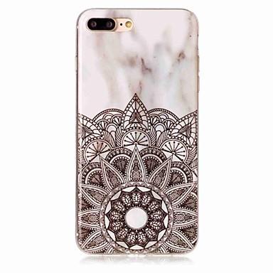 voordelige iPhone 5c hoesjes-hoesje Voor Apple iPhone X / iPhone 8 Plus / iPhone 8 IMD Achterkant Mandala / Bloem / Marmer Zacht TPU