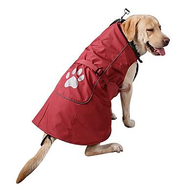 رخيصةأون ملابس وإكسسوارات الكلاب-كلب المعاطف كنزة الشتاء ملابس الكلاب أحمر أزرق كوستيوم سروال قصير نايلون لون سادة كاجوال / يومي الرياضات موضة S M L XL XXL XXXL