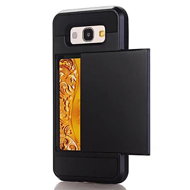 رخيصةأون حافظات / جرابات هواتف جالكسي A-غطاء من أجل Samsung Galaxy A3 (2017) / A5 (2017) / A7 (2017) حامل البطاقات غطاء خلفي لون سادة قاسي الكمبيوتر الشخصي