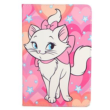 رخيصةأون أغطية أيباد-غطاء من أجل Apple iPad Mini 3/2/1 / iPad Mini 4 / Apple مع حامل / قلب / نموذج غطاء كامل للجسم حيوان قاسي جلد PU