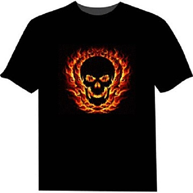 olcso LED pólók-LED pólók 100% Pamut 2 AAA elem