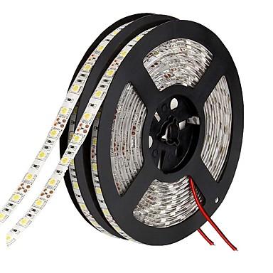 رخيصةأون شرائط ضوء مرنة LED-أدى ضوء شرائط للماء 5050 10 متر 600 المصابيح 10 ملليمتر 9000lm دافئ أبيض / أبيض / أحمر / أصفر / أزرق أخضر dc 12 فولت