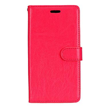 رخيصةأون حافظات / جرابات هواتف جالكسي J-غطاء من أجل Samsung Galaxy J7 (2016) / J7 / J5 (2016) محفظة / حامل البطاقات / مع حامل غطاء كامل للجسم لون سادة قاسي جلد PU