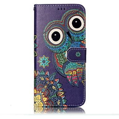 Недорогие Чехлы и кейсы для Galaxy S-Кейс для Назначение SSamsung Galaxy S8 Plus / S8 / S7 edge Кошелек / Бумажник для карт / со стендом Чехол Сова Твердый Кожа PU