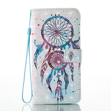 Недорогие Кейсы для iPhone 6-Кейс для Назначение Apple iPhone 7 Plus / iPhone 7 / iPhone 6s Plus Кошелек / Бумажник для карт / со стендом Чехол Ловец снов / Цветы Твердый Кожа PU