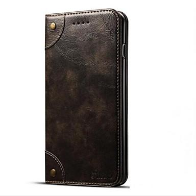 Недорогие Кейсы для iPhone 6 Plus-Кейс для Назначение Apple iPhone 7 Plus / iPhone 7 / iPhone 6s Plus Кошелек / Бумажник для карт / со стендом Чехол Однотонный Твердый Кожа PU