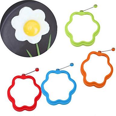 شكل زهرة سيليكون شكل البيض العفن سيليكون الخبز العفن اومليت العفن